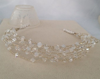 Swarovski Crystal & Sterling Silver Bridal Headband
