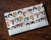 Feline Fine large zipper pouch
