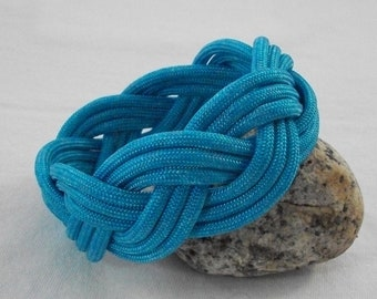 Aqua Turks Head Bracelet