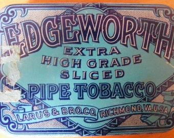 Vintage Edgeworth Pipe Tobacco Tin (1940's)