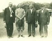 Golfers Golf Man Wearing Knickers and Argyle Socks Golfing Vintage Black White Photo Photograph