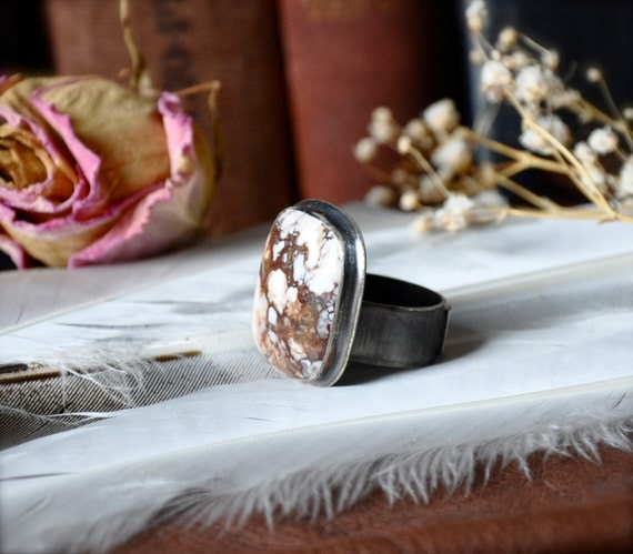 Wild Horse Magnesite Silver Ring