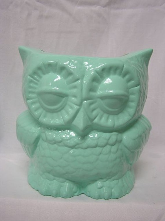 Tootsie Pop Owl Desk Vase Mint Green