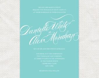 twirl - classic script printable wedding invitation twirl - elegant calligraphy simple modern swirl fonts romantic diy design