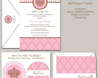 Here Ye, Here Ye Royal Princess Birthday Invitation