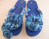 Blue Flip Flops Decorated Convertables - BitsysBaubles