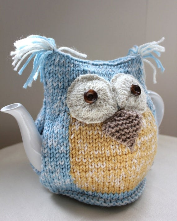 Organic Ocean Owl Tea Cosy in Organic by taffertydesigns ...