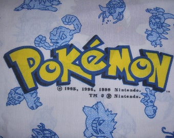 New Pokemon Curtin Panel with tie back   - Reclaimed Video Game Fabric