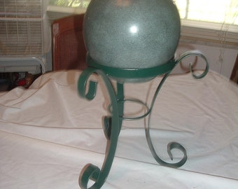vintage ginger jar with lid and stand
