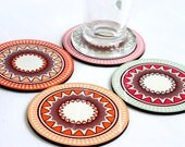 coasters hostess christmas gift under 25 trivet placemat entertaining dining kitchen table coffee tea drink coasters soft pastel bright