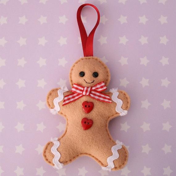 Gingerbread Man Felt Tree Ornament