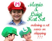 Mario and Luigi Hat Set