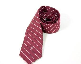 Vintage Burgundy Christian Dior Necktie