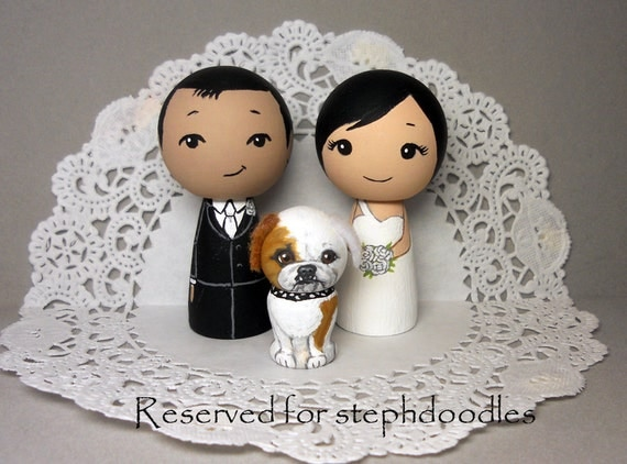 Reserved for stephdoodles Wedding Cake Toppers