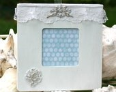 Shabby White Chic Embellished Wood Frame