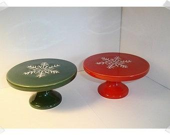 Ceramic Cupcake Stands/Set of 2/ Holiday Decor/Supplies*