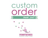 Custom Order for Colleen