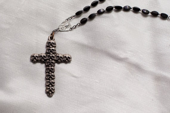 Modified Rosary Goth Necklace FREE SHIPPING
