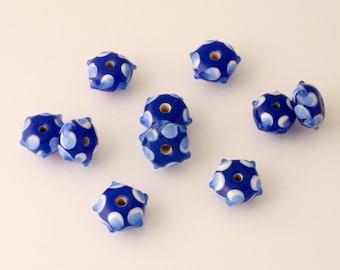 Handmade Lampwork Sputnik Beads - rondelle - lot of 10 - LMP024