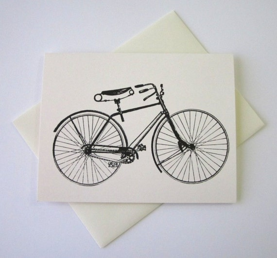 Bicycle Note Cards Stationery Set of 10 Cards