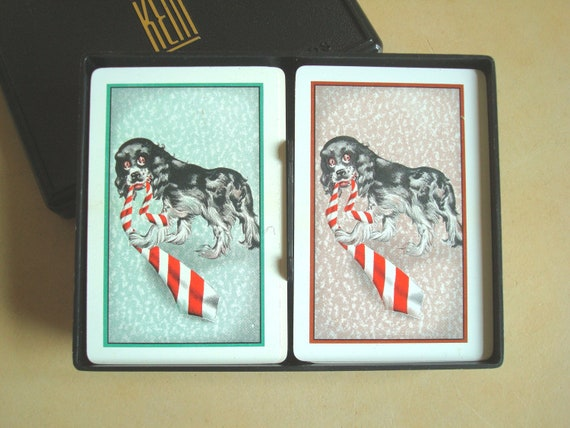 Vintage Kem standard playing card set, 1947 plastic box