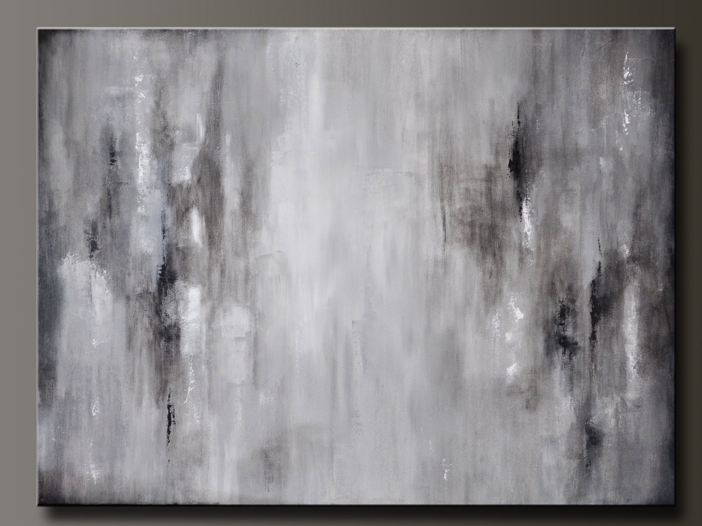 Gray Wall Art graphite gray 40 x 30 abstract acrylic painting huge