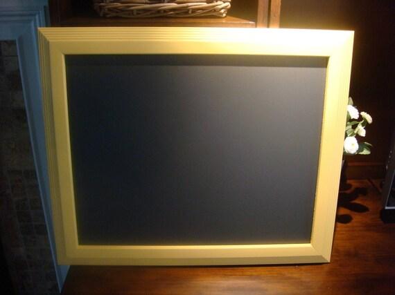 Chalkboard, Large Yellow Framed, KItchen, Wedding Chalkboard (19 1/2 x 23 1/2 inches)