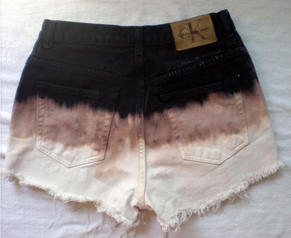 Brand New Calvin Klein Ombre Trifecta High Waist Shorts Frayed as featured on Wanelo.com