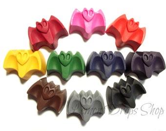 Bat crayons set of 10