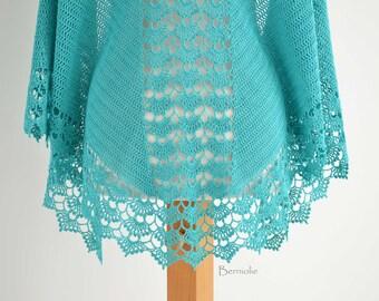 SPRING, Crochet shawl pattern pdf