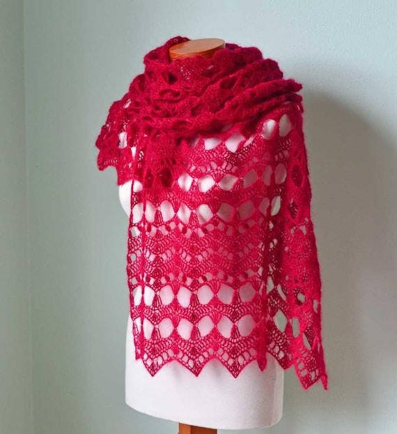 ELEKTRA, Crochet shawl pattern, PDF