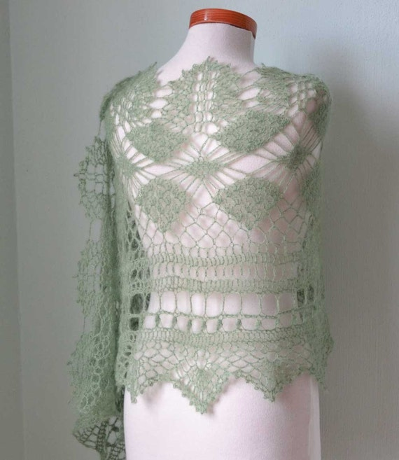 MISITU, Crochet shawl pattern, PDF