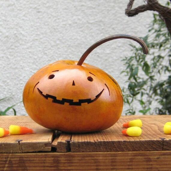 Halloween Gourd Jack O Lantern Natural Fall Harvest Pumpkin Centerpiece Decoration