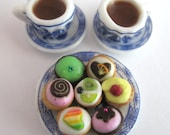 Dollhouse Miniature Food Tea and Cake Set in 12th Scale