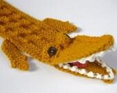 Alligator Scarf - Golden Orange - Mens Womens Kids - READY TO SHIP