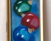 Painting - Original Painting - Ornament Painting - Christmas Spirit - Trio - Number 9