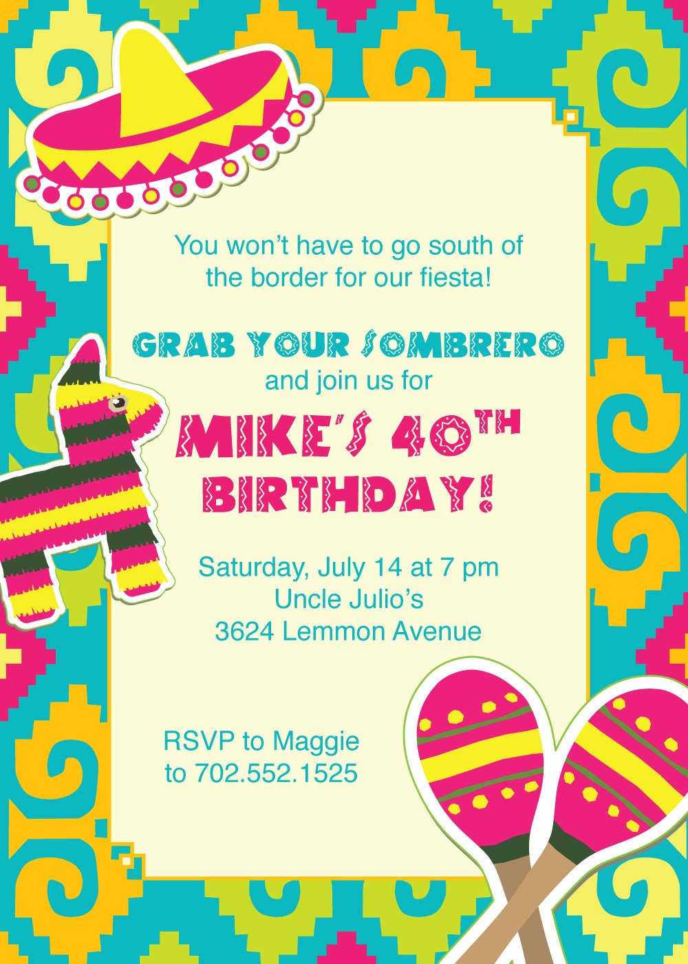 It's just a graphic of Versatile Free Printable Fiesta Invitations