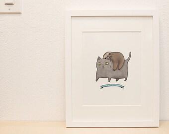 Winter Sale! FRIENDS - 8x10 - illustration art print