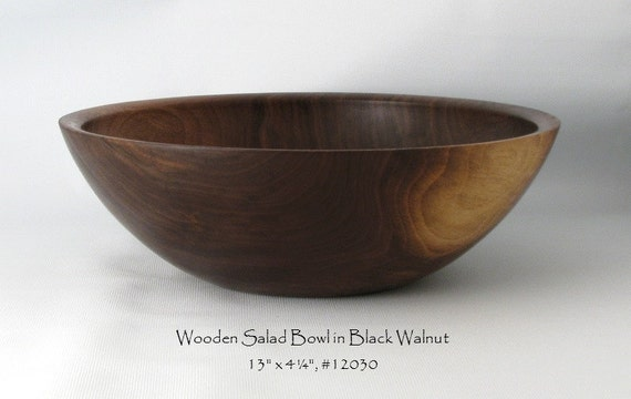 Handmade Salad Bowl in Reclaimed Walnut