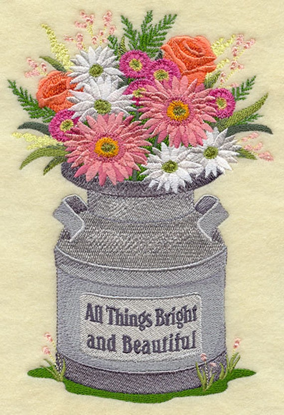 All THINGS BRIGHT & BEAUTIFUL - Machine Embroidery Quilt Blocks (AzEB)