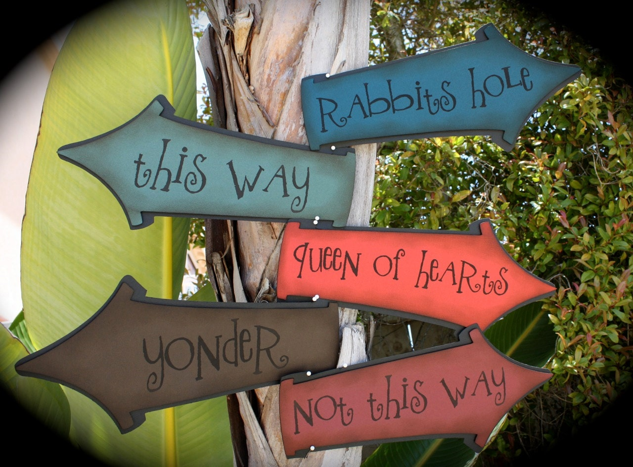 Mad Hatter's Tea Party/Alice in Wonderland directional