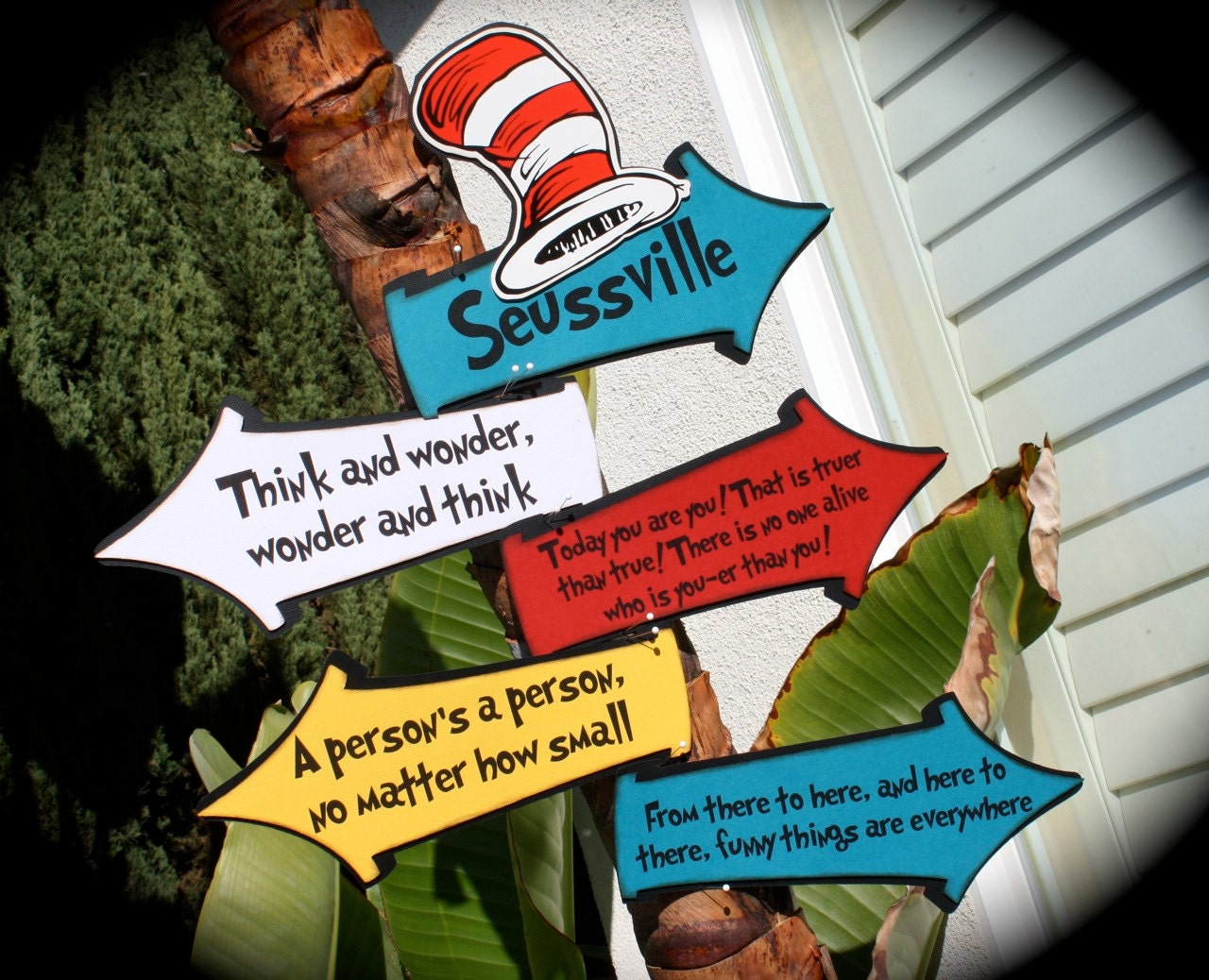 seussville cat in the hat quotes whimsical signs for any