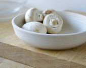 RESERVED FOR lolaandpoppy - Set of two shallow salad bowls glazed in vanilla cream