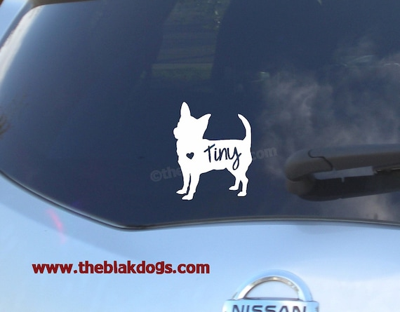 Chihuahua Silhouette Vinyl Sticker Car Decal By Blakdogs