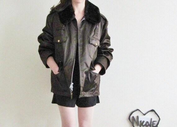 r e s e r v e d trains plains automobiles bomber jacket . authentic crossing guard coat . montgomery county .large.extra large.xl .sale