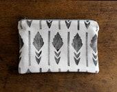 hand printed zipper pouch