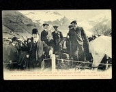 Alphonse XIII Royalty Postcard King of Spain, Photo Skiing Norweigen Alps,  1909 Turn of the Century, Famous People
