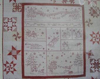 408 Winter Wonderland Hand Embroidery Quilt Pattern by Crabapple Hill Studios Snowmen