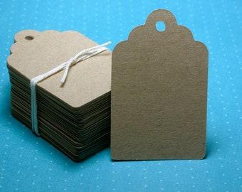 "150 Paper Tags: Kraft Gift Tags 2.25"" x 3.5"""