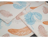 Blue & Orange Feathers Cards - frnchsk